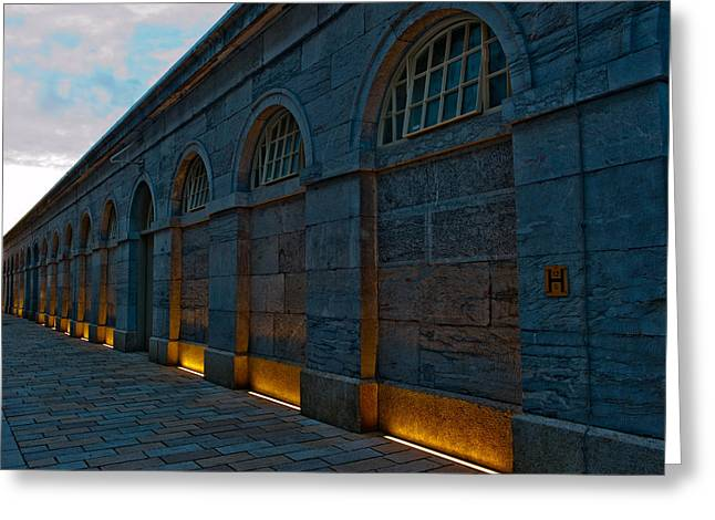 Illuminated Arches Greeting Card by Helen Northcott