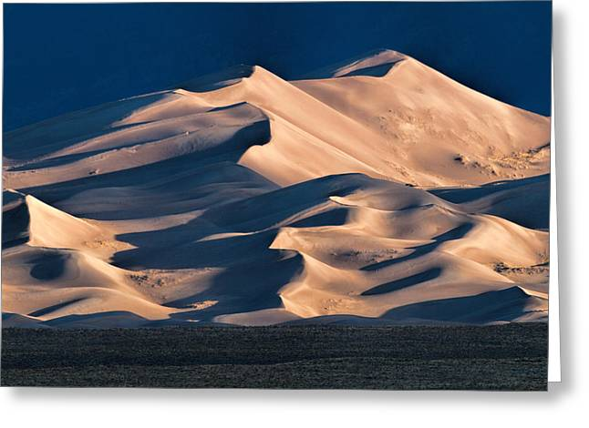 Illuminated Sand Dunes Greeting Card