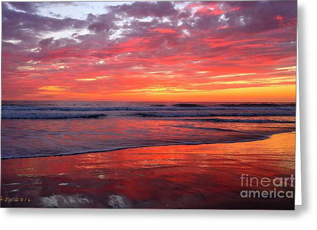 Greeting Card featuring the photograph North County Waves by John F Tsumas