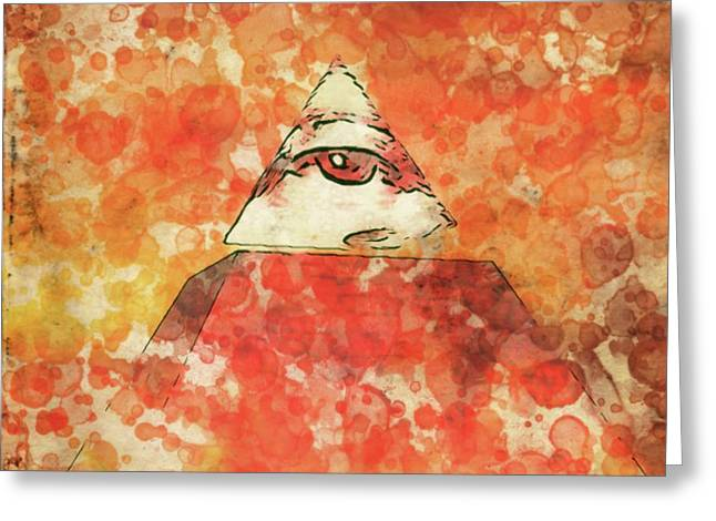 Illuminati By Raphael Terra And Mary Bassett Greeting Card