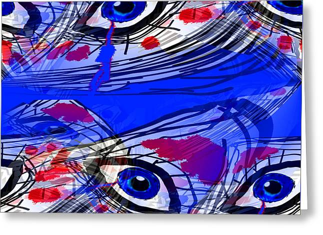 Illuminati Confusion Greeting Card by Abstract Angel Artist Stephen K