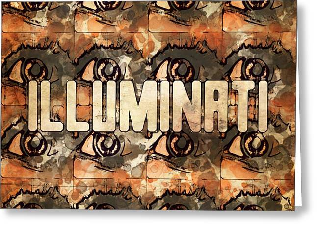 Illuminati Eyes By Mb And Rt Greeting Card