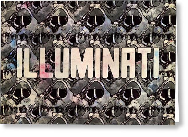 Illuminati Pattern By Mb And Rt Greeting Card by Raphael Terra