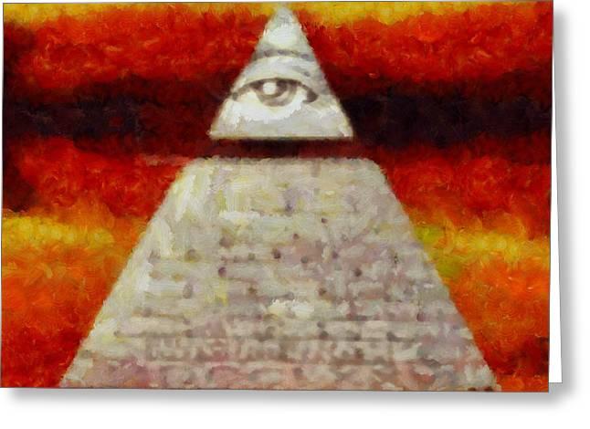 Illuminati Greeting Card