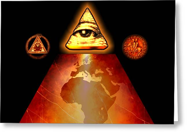 Illuminati World By Pierre Blanchard Greeting Card by Pierre Blanchard