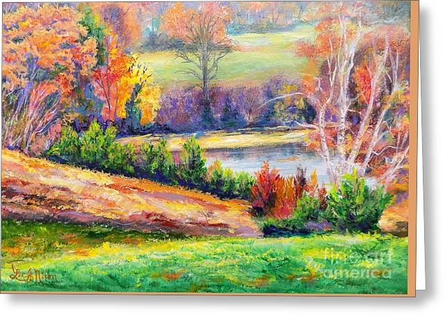 Greeting Card featuring the painting Illuminating Colors Of Fall by Lee Nixon