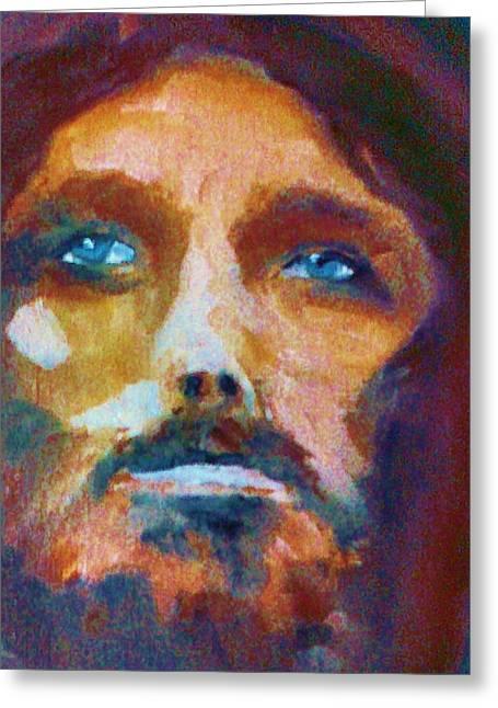 Jesus Pastels Greeting Cards - Illumination Greeting Card by Bob Naramore