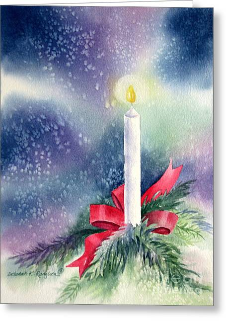 Candle Lit Paintings Greeting Cards - Illumination Greeting Card by Deborah Ronglien