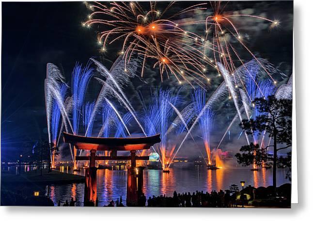 Illuminations 2 - Epcot Center At Disney World Orlando Florida Greeting Card