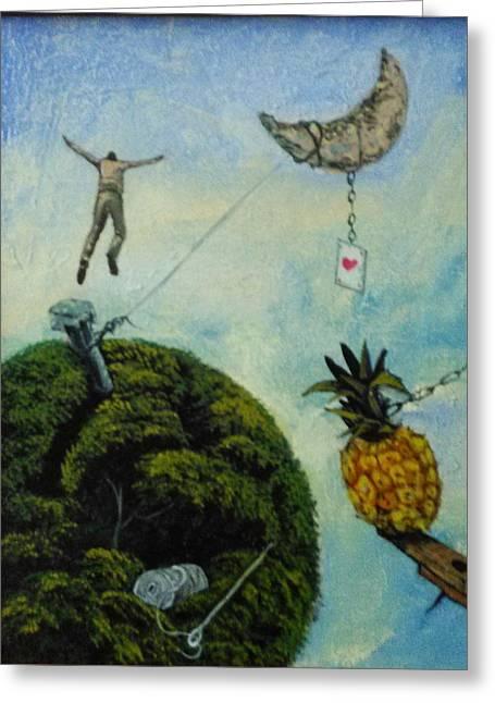 Illusions That Fall At Dawn Greeting Card by Carlos Rodriguez Yorde