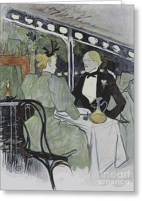 Illustration From Le Plaisir A Paris, Article In Le Figaro Illustre, July 1893 Greeting Card by Henri de Toulouse-Lautrec
