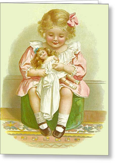 Illustration From Mammys Baby Greeting Card by Ida Waugh