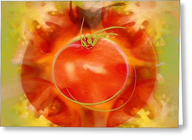 Illustration Of Tomato Greeting Card by Cam Wilson