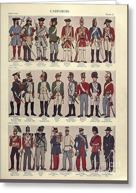 Illustrations Of Military Uniforms Greeting Card