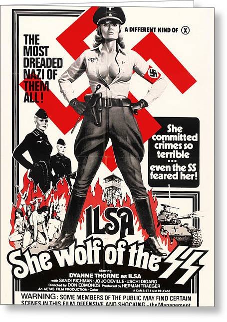 Ilsa - She Wolf Of The Ss 1975 Greeting Card
