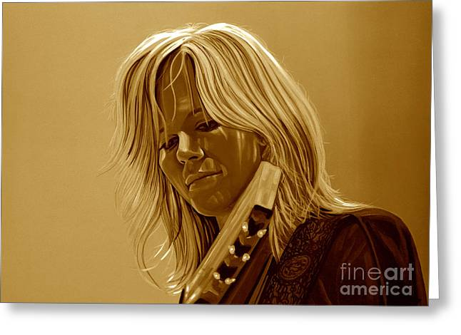 Ilse Delange Of The Common Linnets Greeting Card