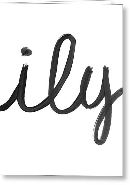 Ily- Art By Linda Woods Greeting Card