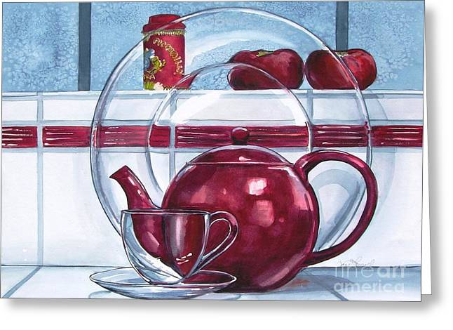 I'm A Little Teapot Greeting Card by Jane Loveall