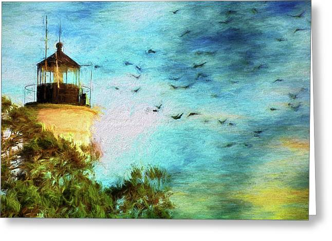 Greeting Card featuring the photograph I'm Here To Watch You Soar II by Jan Amiss Photography