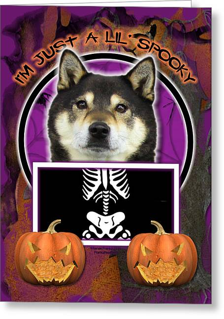 I'm Just A Lil' Spooky Shiba Inu Greeting Card by Renae Laughner
