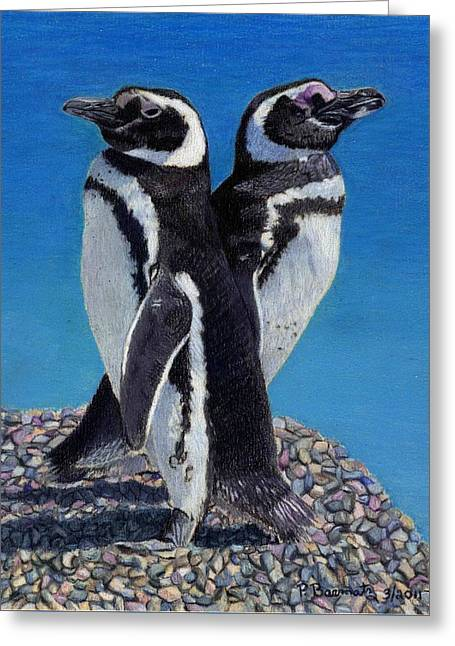 I'm Not Talking To You - Penguins Greeting Card