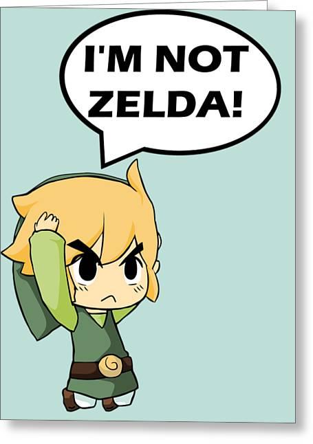 I'm Not Zelda Greeting Card by Danilo Caro