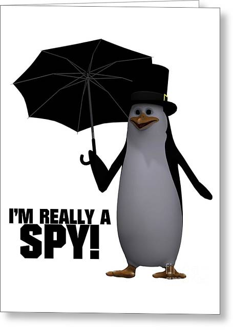 I'm Really A Spy Greeting Card