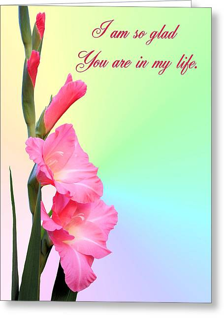 I'm So Glad You Are In My Life Greeting Card by Kristin Elmquist