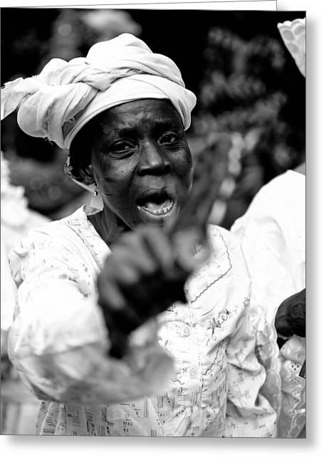 Africa Festival Greeting Cards - Im Warning You Greeting Card by Fotograffi