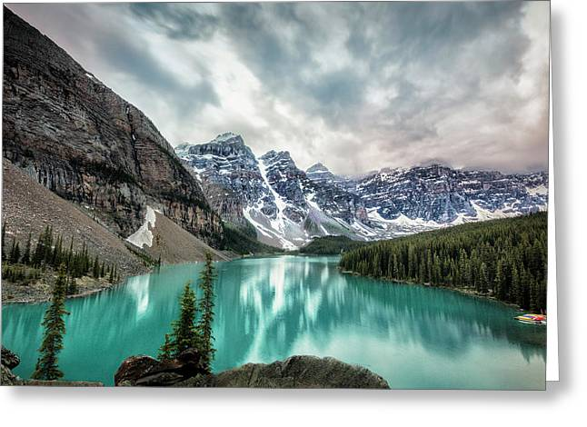 Imaginary Lake Greeting Card