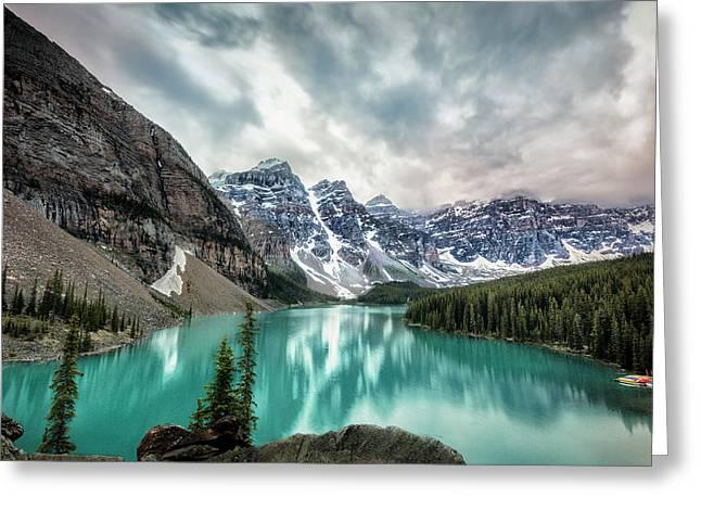 Imaginary Lake Greeting Card by Jon Glaser