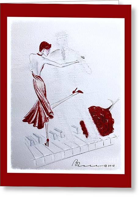 Imaginary Tango Greeting Card by Barbara Chase
