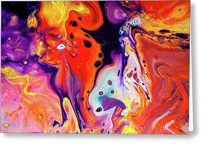 Imagination - Colorful Abstract Art Painting Greeting Card by Modern Art Prints