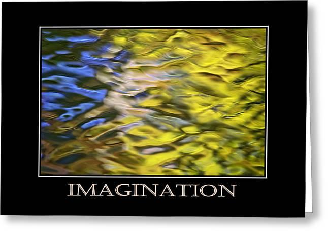 Imagination  Inspirational Motivational Poster Art Greeting Card