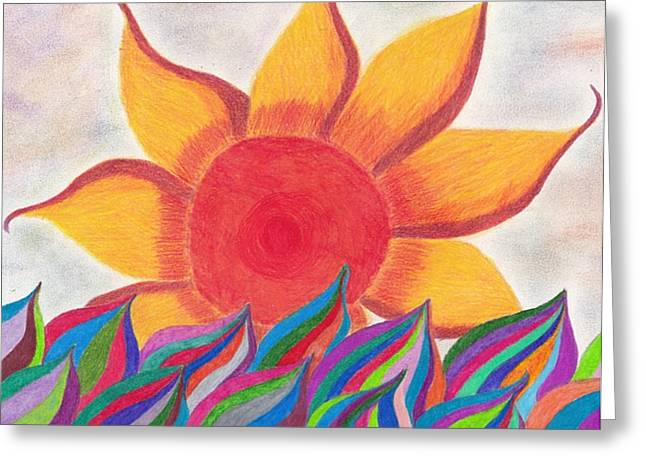 Imagination's Sun Greeting Card by Laurie Gibson
