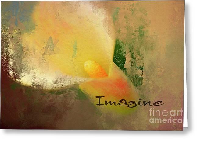 Imagine Calla Lily Abstract Greeting Card