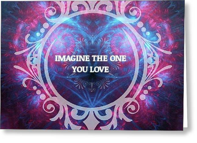 #imagine #love #heart #art #digitalart Greeting Card by Michal Dunaj