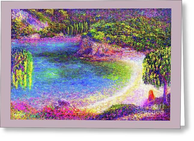 Imagine, Meditating In Beautiful Bay,seascape Greeting Card