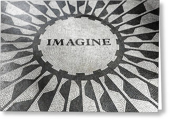 Imagine - Strawberry Fields Greeting Card