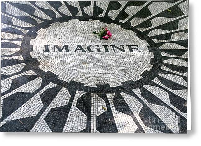 Imagine Tribute To John Lennon Greeting Card
