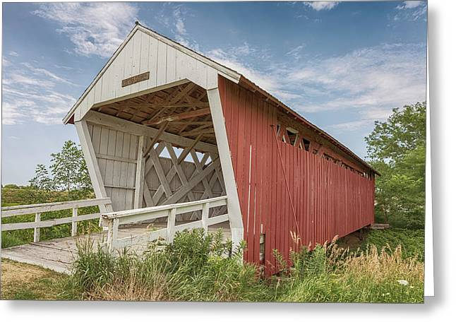 Greeting Card featuring the photograph Imes Covered Bridge by Susan Rissi Tregoning