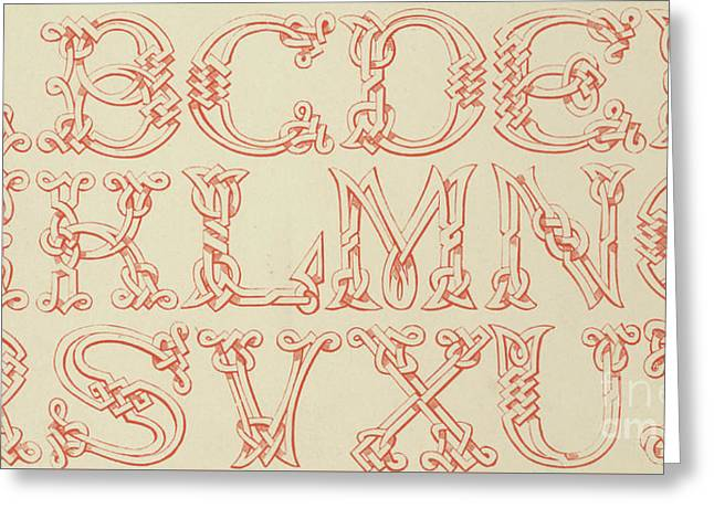 Imitation Saxon Greeting Card by English School