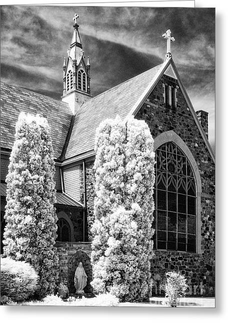 Immaculate Conception Church Greeting Card by Jeff Holbrook