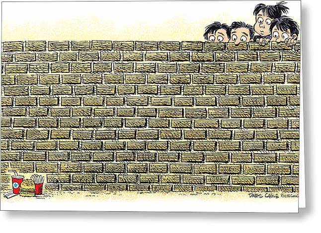 Immigrant Kids At The Border Greeting Card