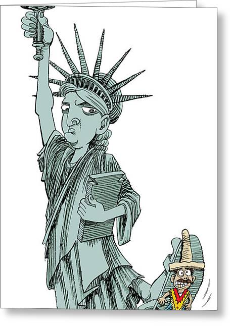 Immigration And Liberty Greeting Card