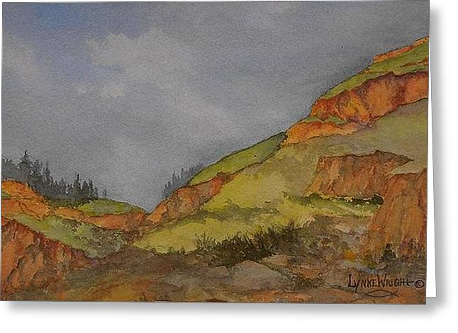 Imnaha Bluffs, Oregon Greeting Card by Lynne and Don Wright