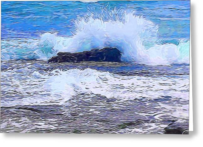Ocean Impact In Abstract 1 Greeting Card