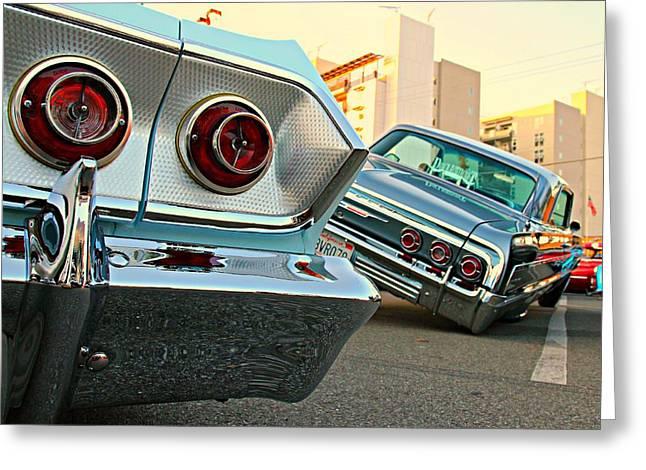 Impala Low-riders Greeting Card