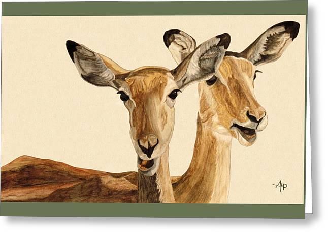 Impalas Watercolor Greeting Card