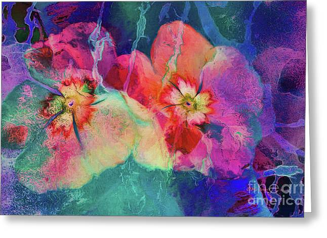 Impatiens Abstract Greeting Card